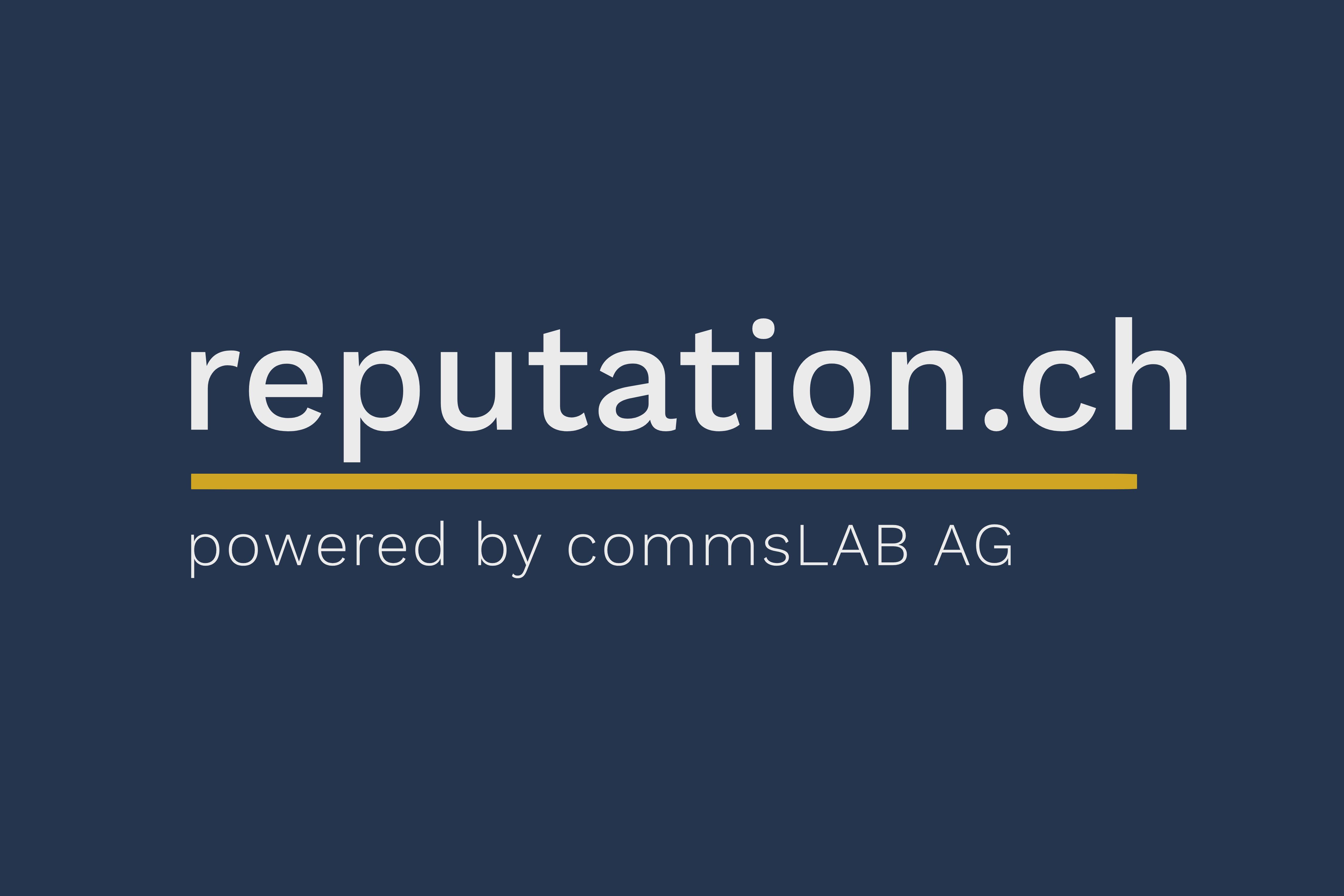 Neue Website reputation.ch mit Daten zur Reputation von Schweizer Akteuren